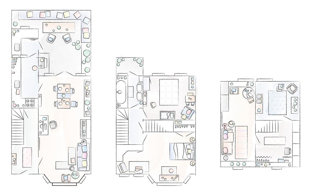 План на дома на Марит.