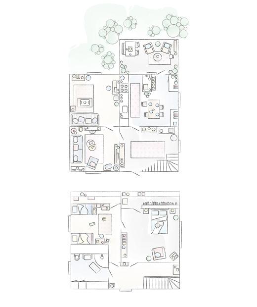 План на дома на Пер и Хана.